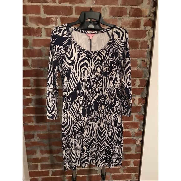 24657b5478ea6a Lilly Pulitzer Dresses & Skirts - ✨FINAL PRICE✨ Lilly Pulitzer navy zebra  dress